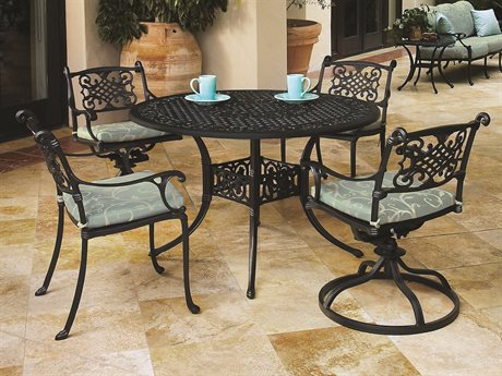 GenSun Michigan Cast Aluminum Cushion Dining Set