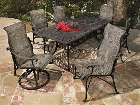 GenSun Michigan Sling Cast Aluminum Dining Set