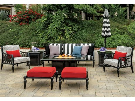 Gensun Manhattan Cast Aluminum Cushion Lounge Set PatioLiving
