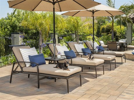 Gensun Treviso Wicker Cushion Lounge Set PatioLiving