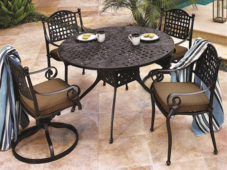 GenSun Verona & Grand Cast Aluminum Cushion Dining Set
