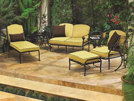 GenSun Verona & Grand Cast Aluminum Cushion Lounge Set