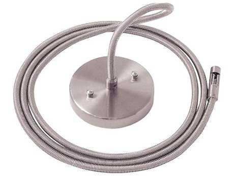 George Kovacs GK Lightrail Brushed Nickel 96'' Single Post Power Feed