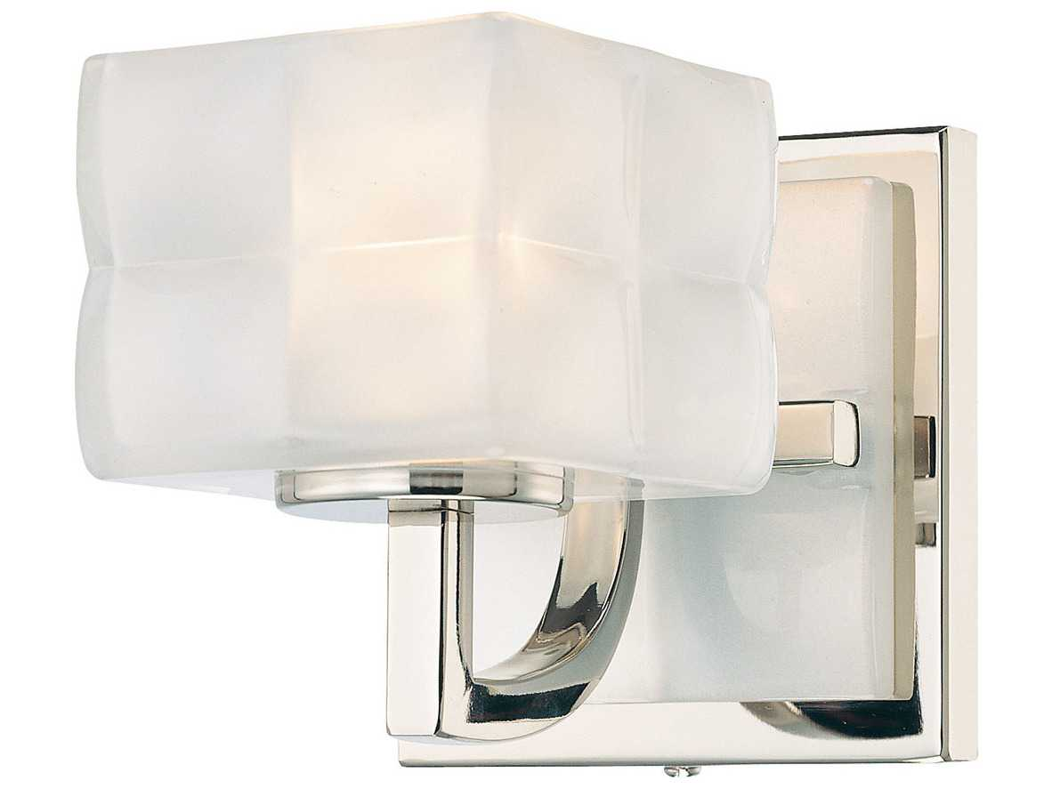 George Kovacs Squared Polished Nickel Vanity Light