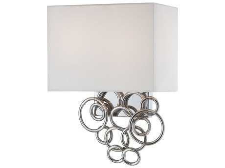 George Kovacs Ringlets Chrome Two-Light Wall Sconce