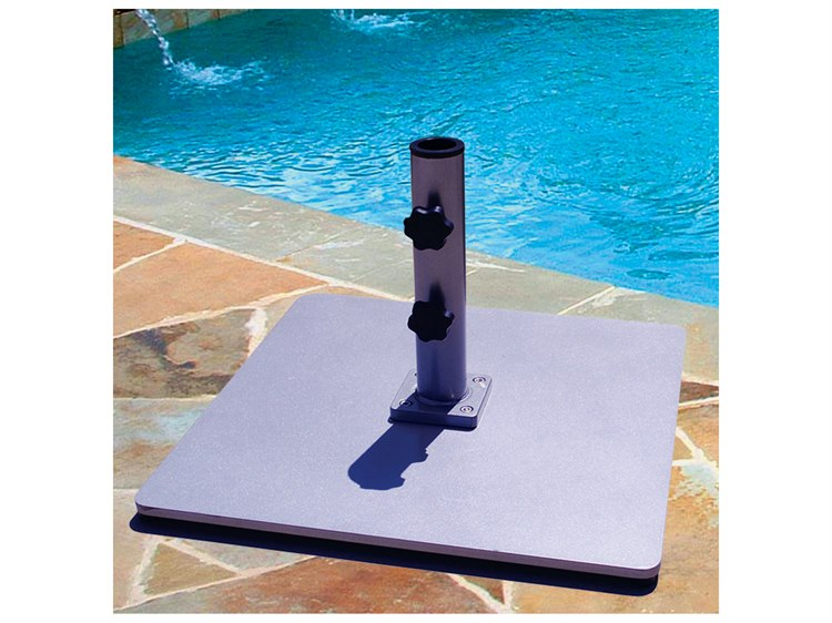 Galtech Steel Plate 60 lb. Square Umbrella Base