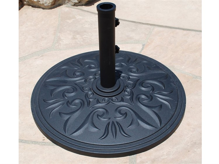 Galtech Cast Aluminum 75 lb. Round Umbrella Base