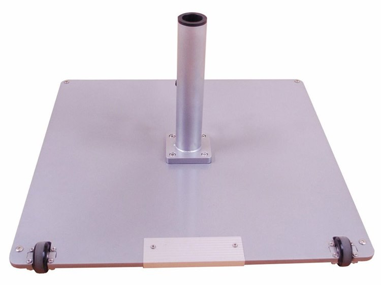 Galtech Steel Plate 95 lbs Square Wheeled Umbrella Base PatioLiving