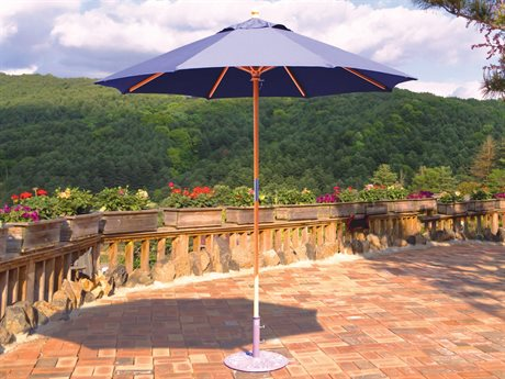 Galtech Quick Ship Cafe & Bistro 7.5 Foot Wood Push Up Lift Umbrella