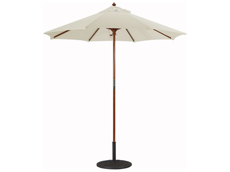 Galtech Cafe & Bistro 7.5 Foot Wood Push Up Lift Umbrella