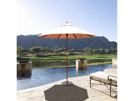 Galtech Quick Ship Cafe & Bistro 7.5 Foot Wood Push Up Lift Umbrella