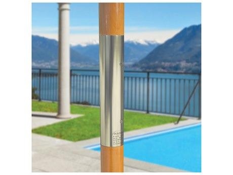 Galtech Wood 9 Foot All Purpose Manual Lift Umbrella