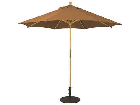 Galtech Wood 9 Foot All Purpose Manual Lift Umbrella
