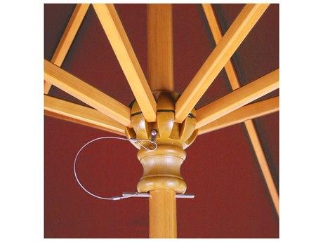 Galtech Wood Commercial 9 Foot Octagon Push Up Lift Umbrella