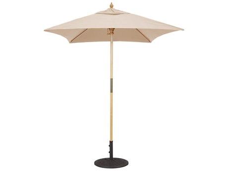 Galtech Cafe & Bistro 6 Foot Wood Square Push Up Lift Umbrella
