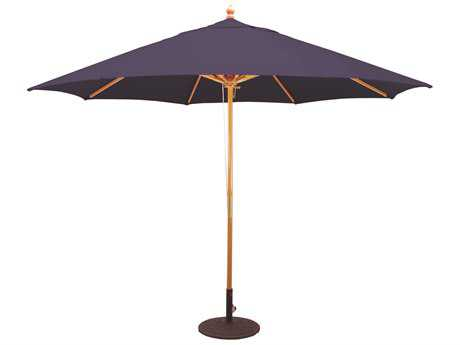 Galtech Wood 11 Foot Quad Pulley Lift Umbrella