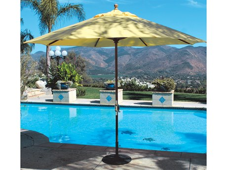Galtech Quick Ship Teak 11 Foot Maximum Shade Crank Lift Umbrella