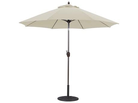 Galtech Aluminum 9 Foot Crank Lift Manual Tilt Umbrella PatioLiving