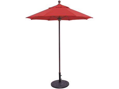 Galtech Commercial 6 Foot Antique Bronze Manual Lift Umbrella