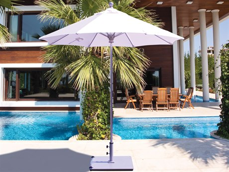 Galtech Quick Ship Commercial 7.5 Foot Aluminum Push Up Lift Umbrella PatioLiving
