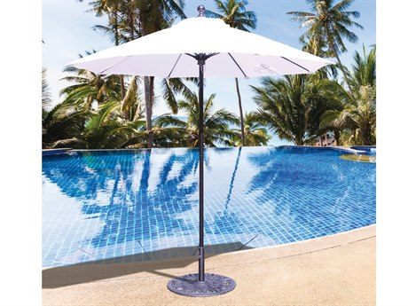Galtech Quick Ship Commercial 7.5 Foot Aluminum Octagon Push Up Lift Umbrella