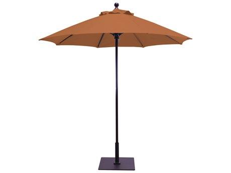 Galtech Commercial 7.5 Foot Aluminum Octagon Push Up Lift Umbrella PatioLiving