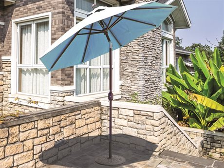 Galtech Quick Ship Aluminum 7.5 Foot Auto Tilt Crank Lift Umbrella