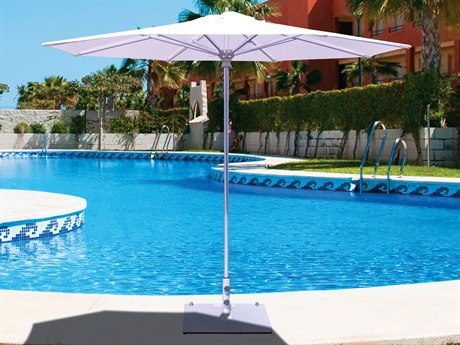Galtech Quick Ship Commercial 9 Foot Aluminum Push Up Lift Umbrella