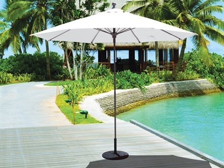 Galtech Quick Ship Commercial 9 Foot Aluminum Push Up Lift Umbrella PatioLiving