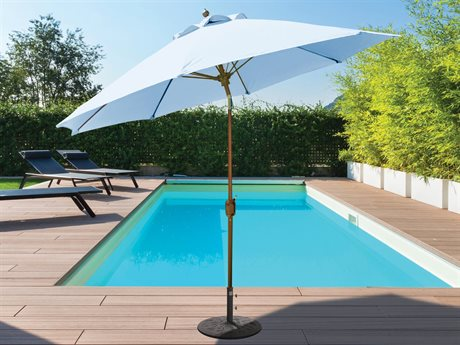 Galtech Quick Ship Aluminum 9 Foot Crank Lift Auto Tilt Umbrella PatioLiving