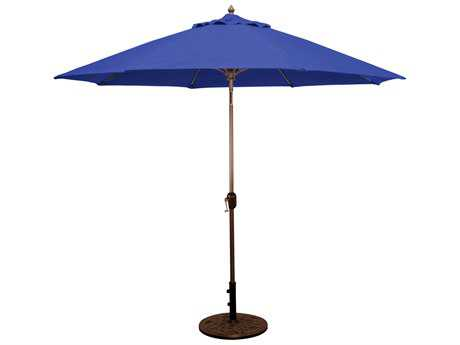 Galtech Aluminum 9 Foot Crank Lift Auto Tilt Umbrella