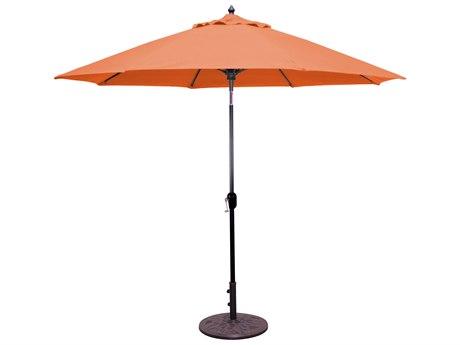 Galtech Aluminum 9 Foot Crank Lift Auto Tilt Umbrella
