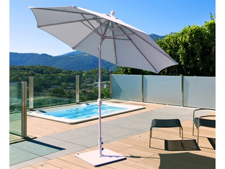 Galtech Quick Ship Aluminum 9 Foot Wide Crank Lift Auto Tilt Umbrella