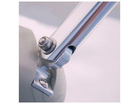 Galtech Commercial 6 Foot Square Push Up Lift Aluminum Umbrella