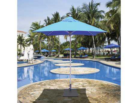 Galtech Quick Ship Commercial 6 Foot Square Push Up Lift Aluminum Umbrella