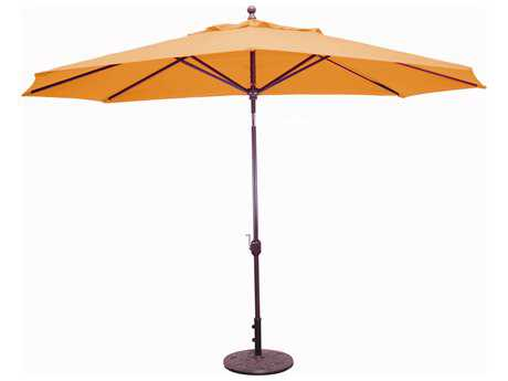 Galtech Aluminum 8 x 11 Foot Oval Crank Lift Auto Tilt Umbrella