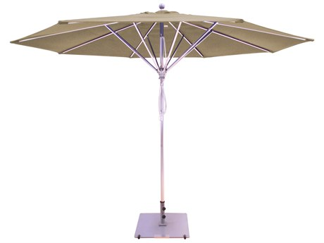 Galtech Quick Ship Commercial 11 Foot Silver Pulley Lift Umbrella