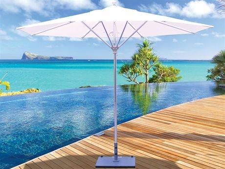 Galtech Quick Ship Commercial 11 Foot Silver Pulley Lift Umbrella