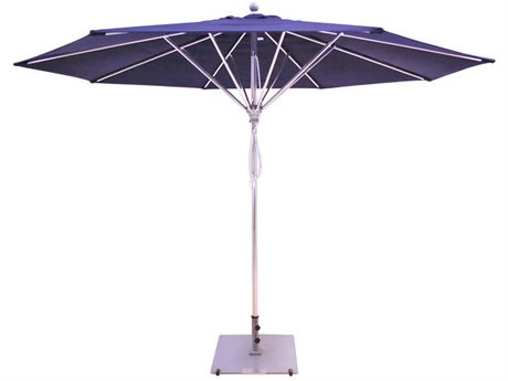 Galtech Commercial 11 Foot Silver Pulley Lift Umbrella