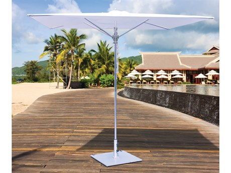 Galtech Quick Ship Commercial 8 Foot Square Pulley Lift No Tilt Umbrella
