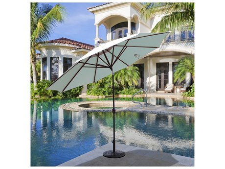 Galtech Quick Ship Aluminum 11 Foot Auto Tilt Crank Lift Umbrella