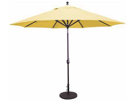 Galtech Aluminum 11 Foot Auto Tilt Crank Lift Umbrella