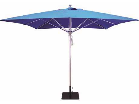 Galtech Commercial 10 Foot Aluminum Square Pulley Lift Umbrella