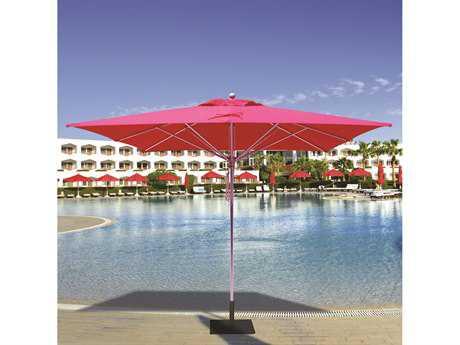 Galtech Quick Ship Commercial 10 Foot Aluminum Square Pulley Lift Umbrella