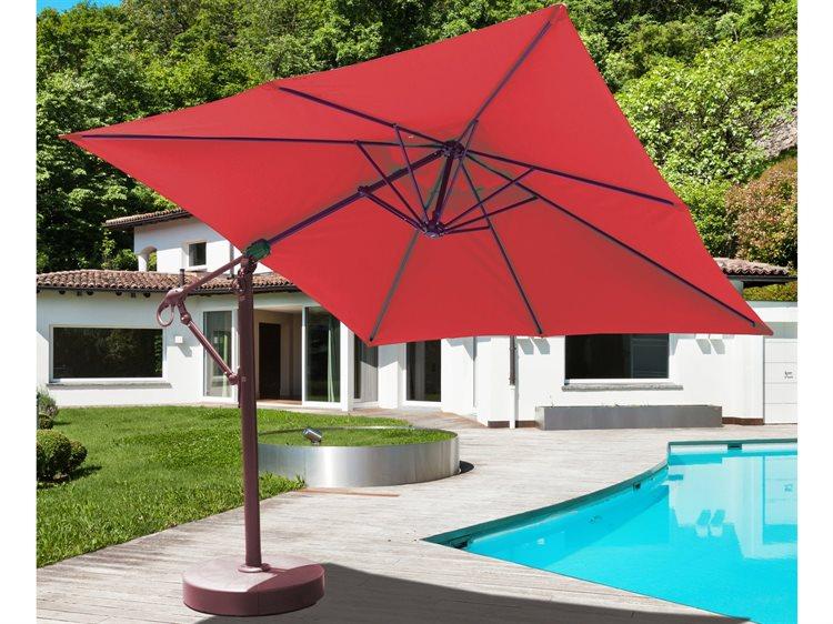 Galtech Quick Ship Cantilever 10 x 10 Foot Aluminum Square Umbrella PatioLiving