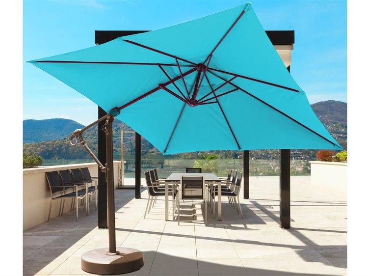 Galtech Quick Ship Cantilever 10 x 10 Foot Aluminum Square Umbrella