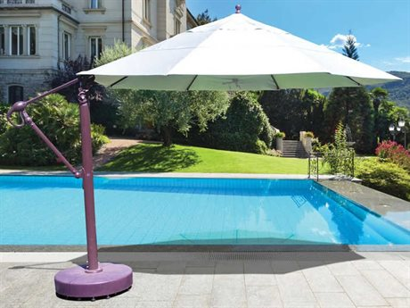 Galtech Quick Ship Commercial 13 Foot Antique Bronze Manual Lift Umbrella