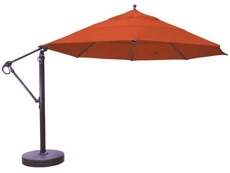 Galtech Commercial 13 Foot Antique Bronze Manual Lift Umbrella