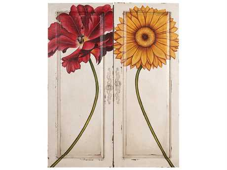 Guild Master Floral Kings Doors White Wall Decor