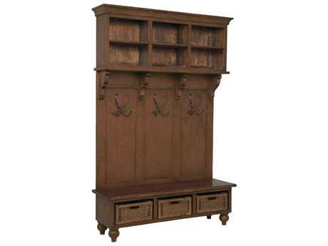 Guild Master Legacy Handpainted Brown Stain Cabinet